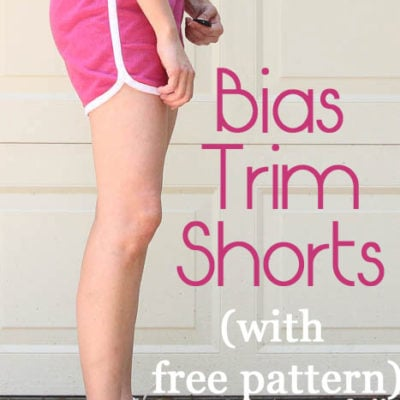 Bias trimmed shorts for women – with free pattern!