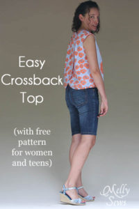 Love this Crossback Top for Summer by Melly Sews featuring Modern Yardage fabric - free pattern!
