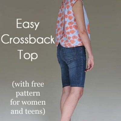 Modern Yardage Crossback Top