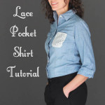 Upcycled fashion - Lace pocket shirt tutorial by Melly Sews
