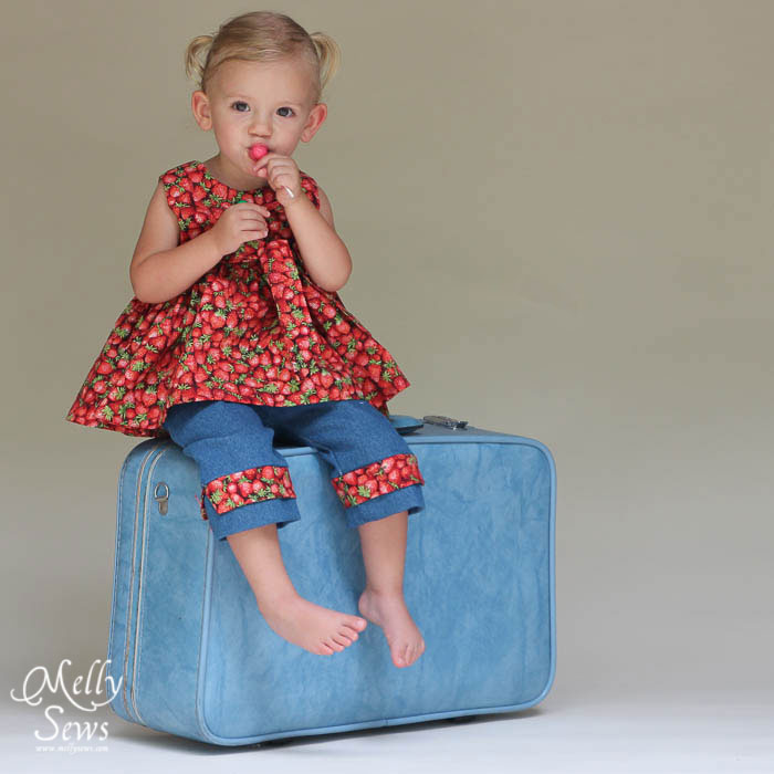 Strawberry top - Miss Matilda by The Cottage Mama - sewn by Melly Sews