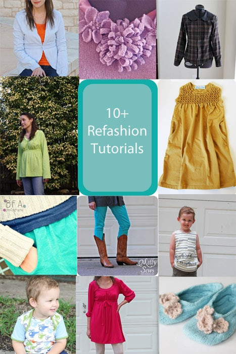 10 Refashion Tutorials for Women and Kids - Melly Sews