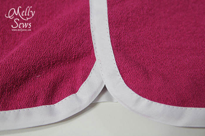 Bias shorts step 5 close up