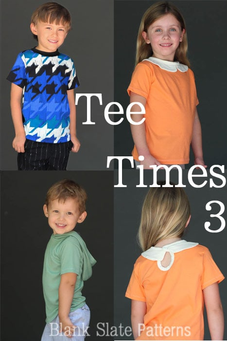 Tee Times Three PDF Sewing Pattern by Blank Slate Patterns