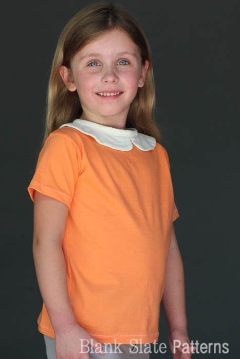 Peter Pan Collar version of Tee Times Three PDF Sewing Pattern by Blank Slate Patterns
