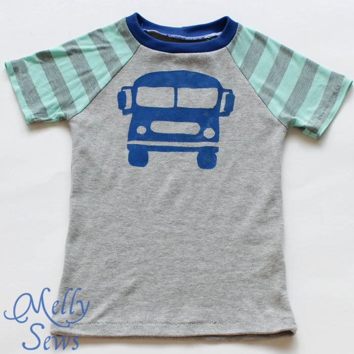 Recess Raglan from The Alphabet Collection by Pattern Anthology