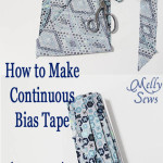 How to Make Continuous Bias Tape - a Tutorial by Melly Sews