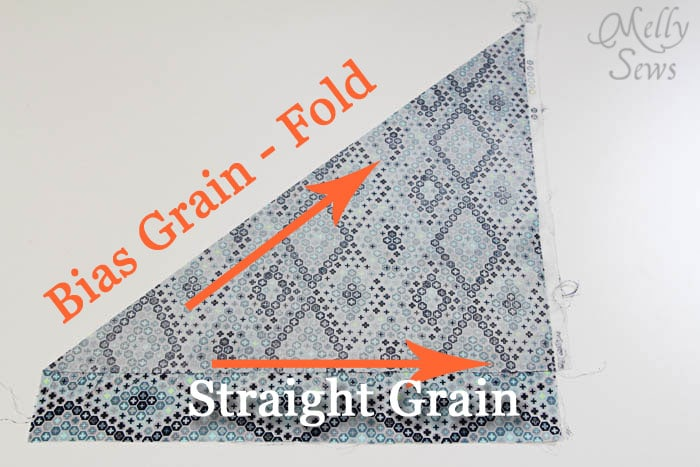 Start by folding - How to Make Continuous Bias Tape - Melly Sews