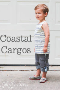 Coastal Cargos Convertible Pants PDF Sewing Pattern by Blank Slate Patterns