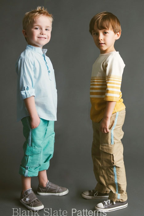 Coastal Cargos Pants PDF Sewing Pattern for Boys or Girls sizes 18m-8