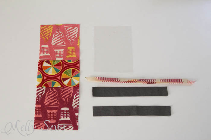 Materials for DIY armband for touchscreen devices - a tutorial by Melly Sews