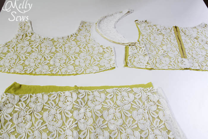Step 1 - Lace Shirt Refashion Tutorial - Melly Sews