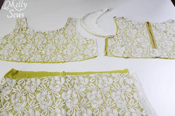 Step 1 - Lace Shirt Refashion Tutorial - Melly Sews