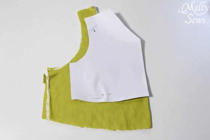 Step 3 - Lace Shirt Refashion Tutorial - Melly Sews