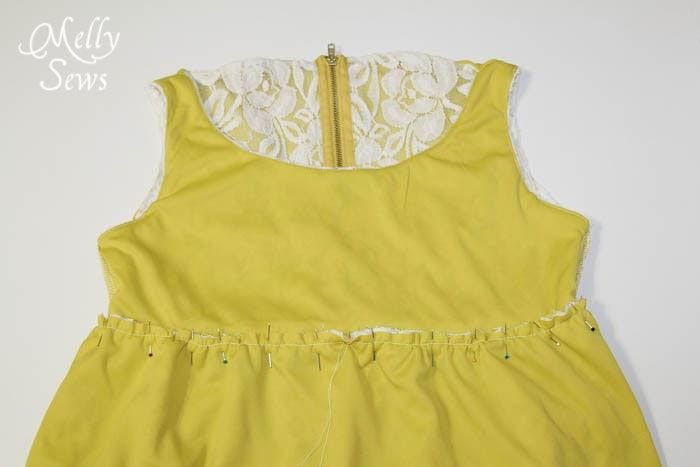 Step 4 - Lace Shirt Refashion Tutorial - Melly Sews
