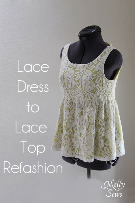 Lace Shirt Refashion Tutorial - Melly Sews