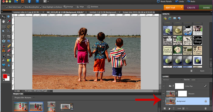 How to adjust photoshop actions