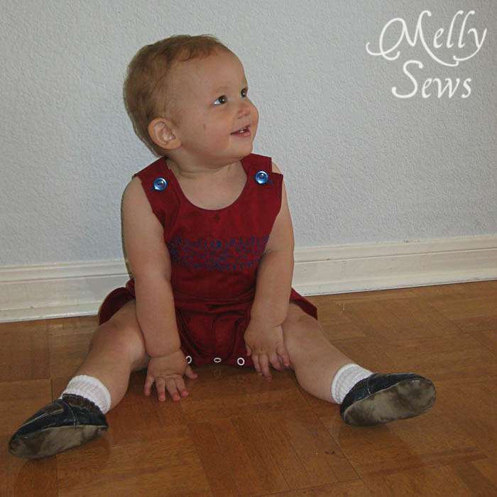 Baby Boy Romper Tutorial with Free PDF Sewing Pattern - Melly Sews