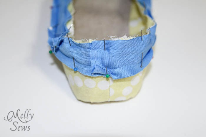 Step 6-3 Sew Ruffled Slippers Tutorial - Melly Sews