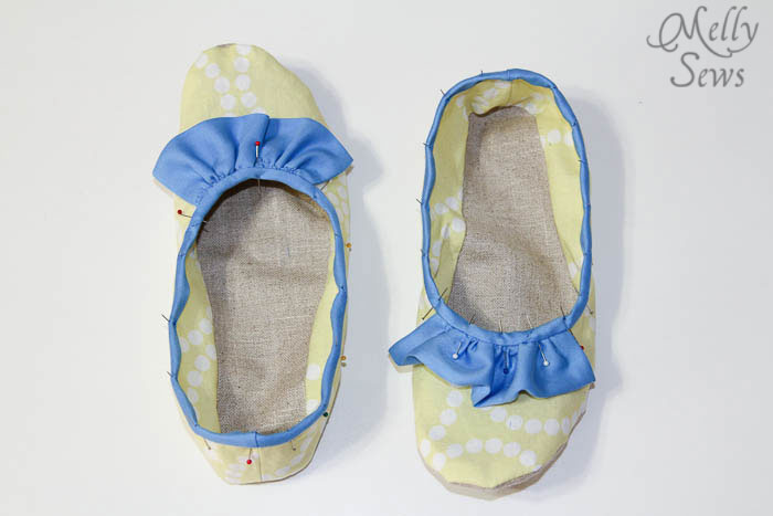 Step 7 Sew Ruffled Slippers Tutorial - Melly Sews