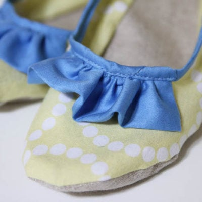 Mystery Fabric Project – Sew Slippers for Ruffles 2013!