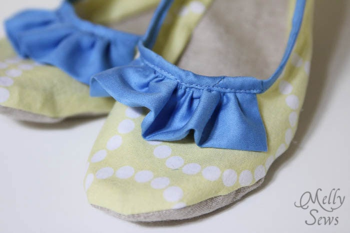 Ruffle Detail Sew Ruffled Slippers Tutorial - Melly Sews