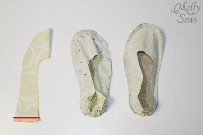 Steps 1-3 Sew Ruffled Slippers Tutorial - Melly Sews