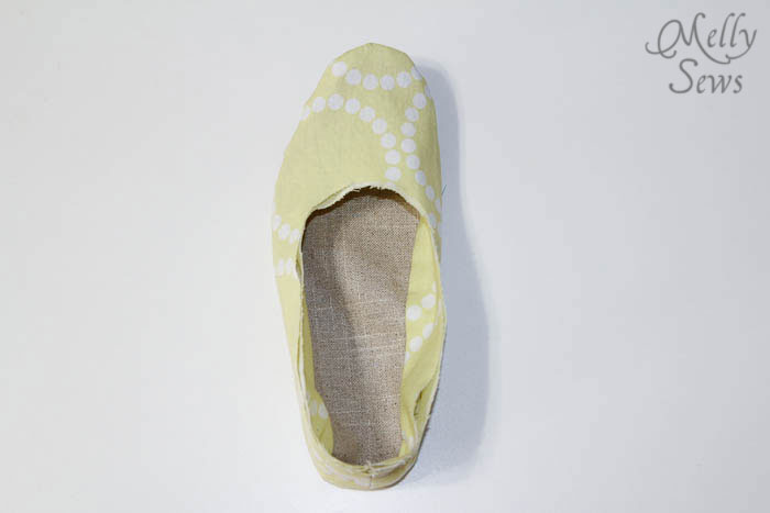 Step 4 Sew Ruffled Slippers Tutorial - Melly Sews