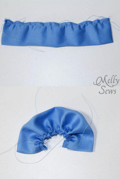 Step 5 Sew Ruffled Slippers Tutorial - Melly Sews