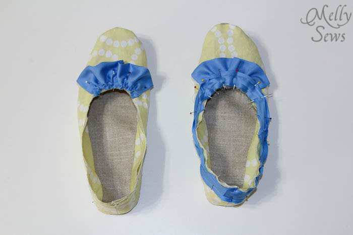 Step 6 Sew Ruffled Slippers Tutorial - Melly Sews