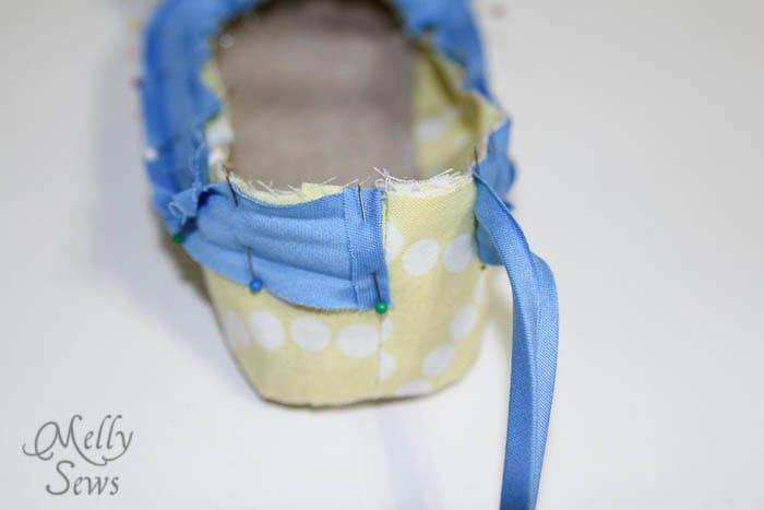 Step 6 -2 Sew Ruffled Slippers Tutorial - Melly Sews
