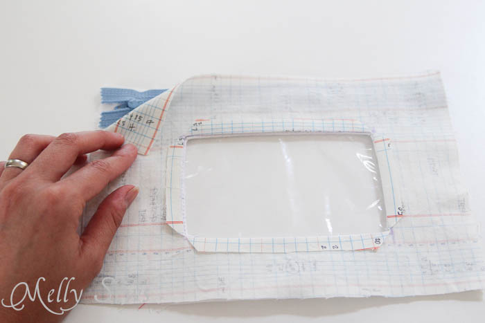 Step 11 Notebook paper zipper pouch tutorial
