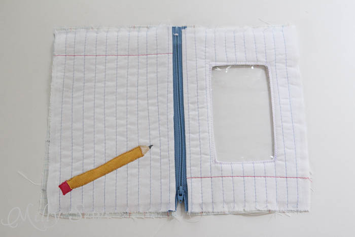 Step 14 Notebook paper zipper pouch tutorial