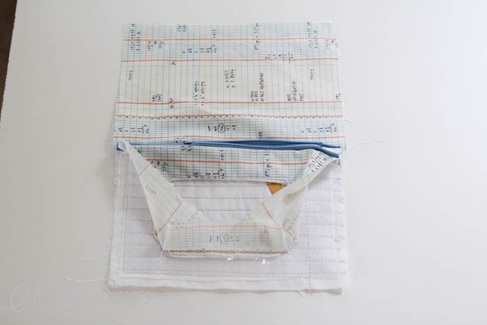 Step 15 Notebook paper zipper pouch tutorial