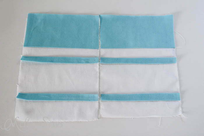 Line up the applique on Marker inspired zip pouch - Melly Sews