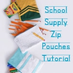 Cute School Supply inspired zip pouches to sew - Melly Sews