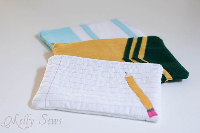 School Supply inspired zip pouches to sew - Melly Sews