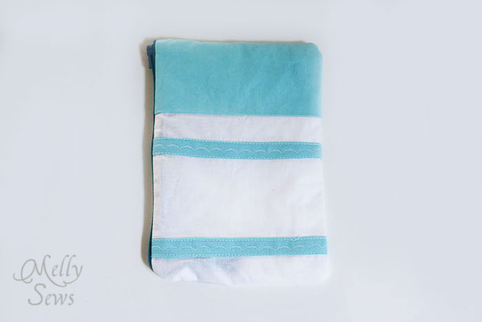 Marker inspired zip pouch - Melly Sews