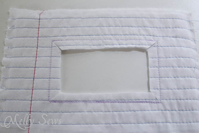 Step 6 Notebook paper zipper pouch tutorial