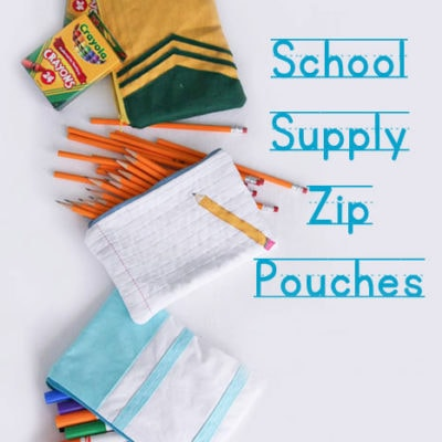 School Supply Zip Pouches