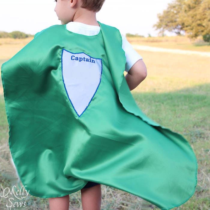 Back View Superhero Cape by Melly Sews