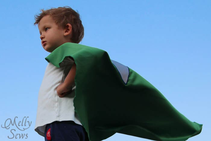 Staring down evil - Superhero Cape by Melly Sews