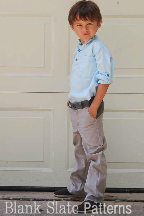 Gray W Pants PDF Sewing Pattern by Blank Slate Patterns