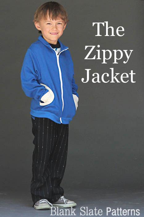 Zippy Jacket Boys or Girls PDF Sewing Pattern by Blank Slate Patterns