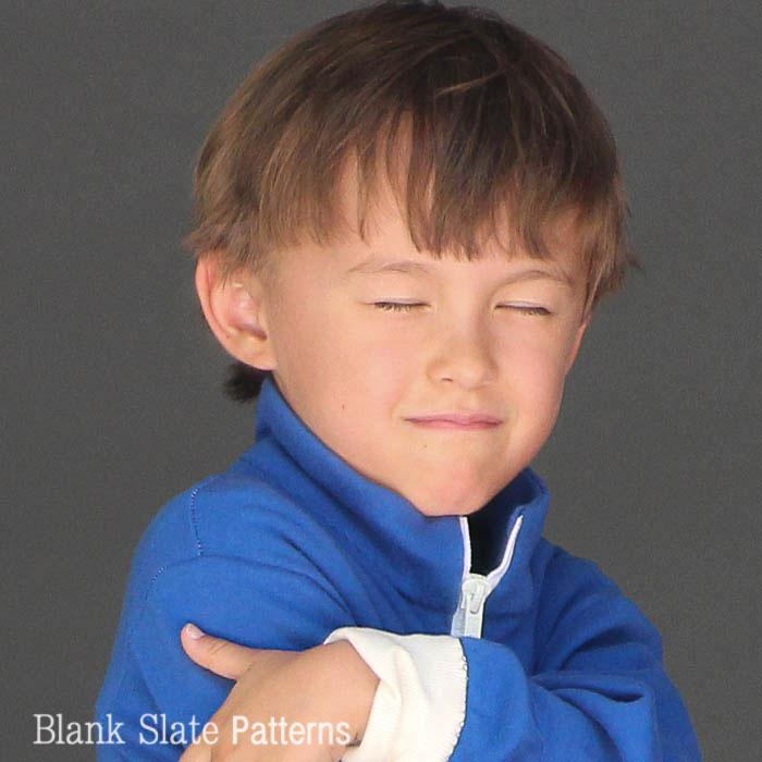 Silly face in Zippy Jacket Boys or Girls PDF Sewing Pattern by Blank Slate Patterns