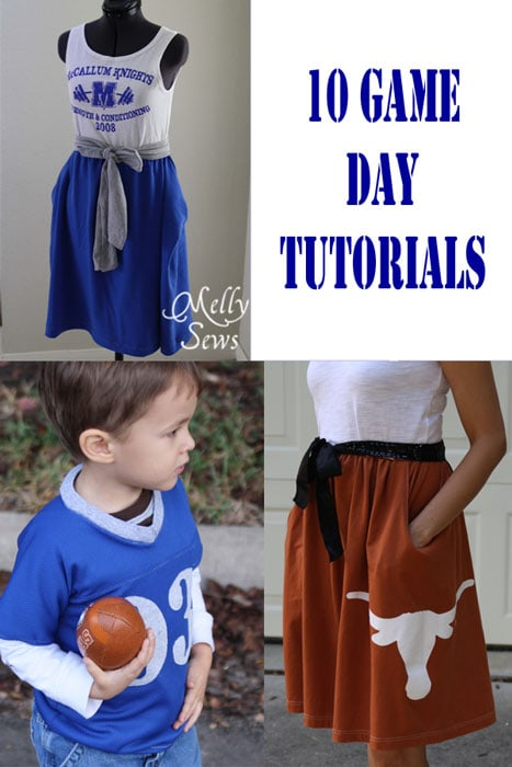 10 Game Day Tutorials - from Game Day Dresses, to Jerseys to Food - Melly Sews