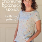 Women's Boatneck Shirt Tutorial with free pattern (for a limited time) - Melly Sews http://mellysews.com #sewing #tutorial #fashion