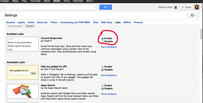 Step 3 - How to Use Gmail Canned Responses