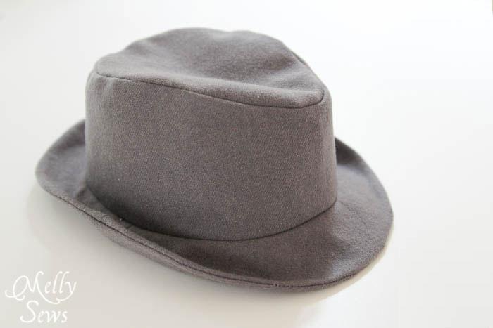 dcd4ebac How to Sew a Fedora Hat - Elegance and Elephants Pattern - Melly Sews