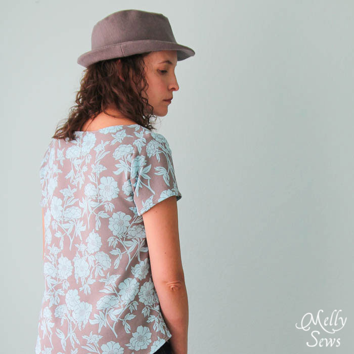 Back view Elegance and Elephants Fedora sewn by Melly Sews